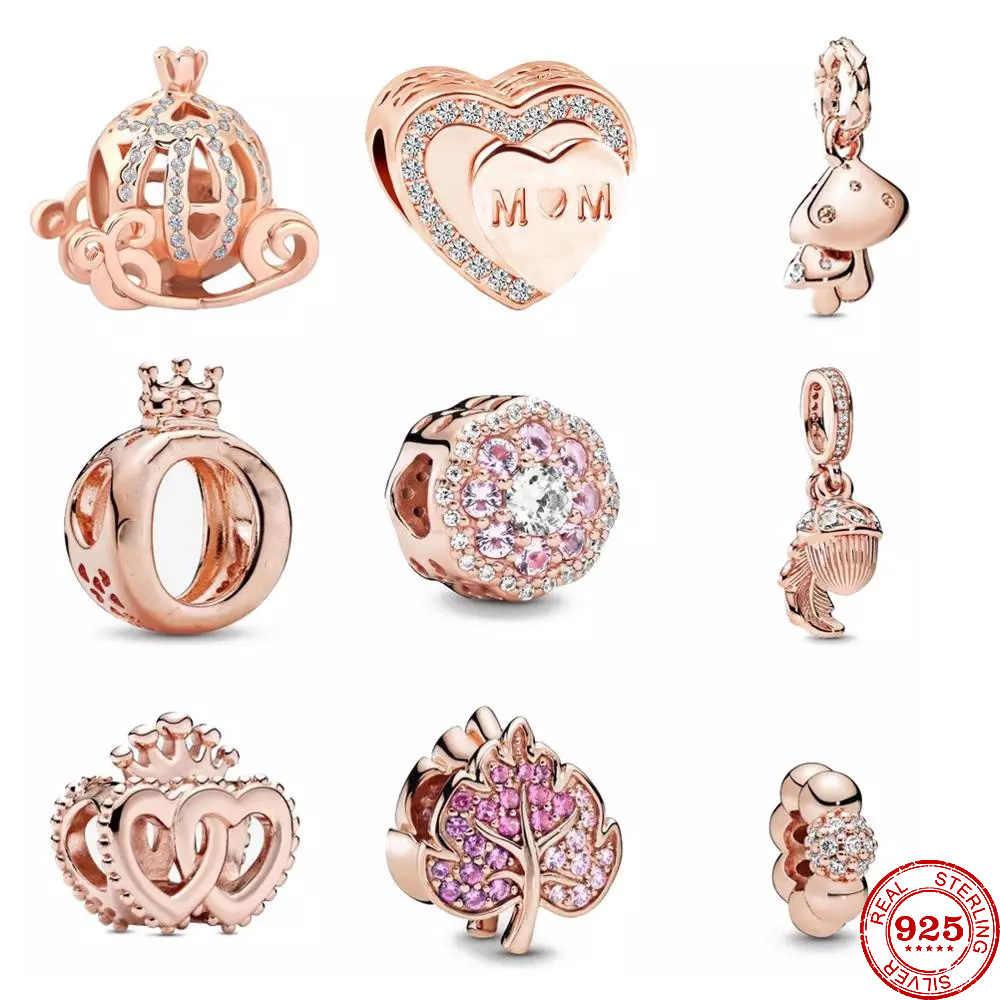 Bracelet original en or Rose pour femmes, breloque double cœur ...