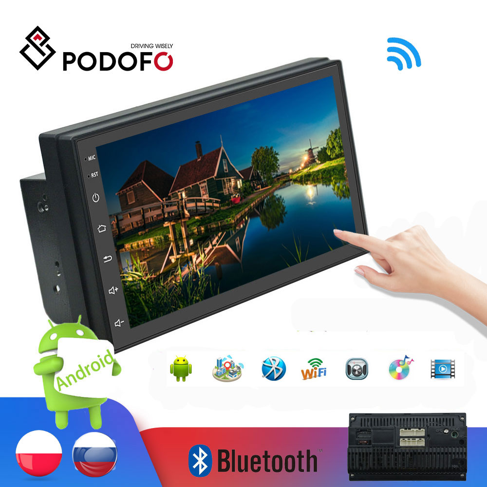 Podofo 2din Car Radio Android multimedia player Autoradio 7