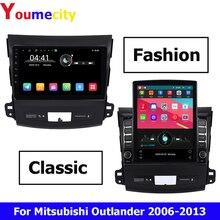 Sekiz çekirdekli/Android 9.0 araba multimedya oynatıcı Mitsubishi Outlander 3 XL 2006 2013 ile 2GRAM radyo DVD GPS navigasyon BT WIFI