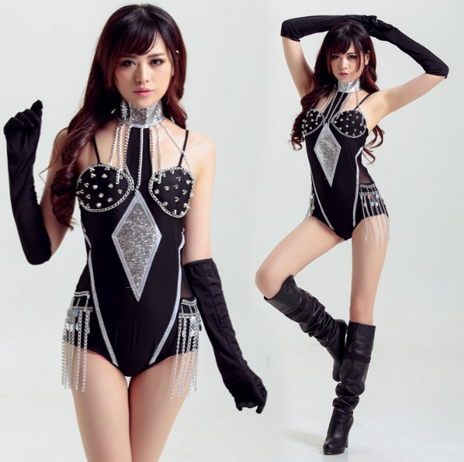 Nightclub Ds Costumes New Female Songs Show Jazz Dance Clothes Hip Hop Street Dance Bar Stage Costumes Onesies