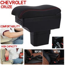 Armrest Box For Chevrolet Cruze PU Leather Central Container Storage Box Car Styling Accessories universal car central container armrest box pu leather auto car styling central store fit for 2011 mini cooper