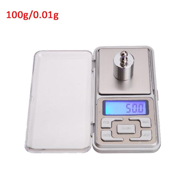 Карманные точные электронные весы для ювелирных изделий, мини весы, высокая точность, весы 500 г X 0,01 г, Мини цифровые весы - Цвет: 100g0.01gABS