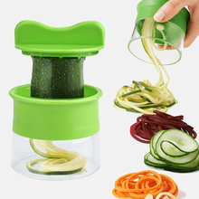 Portable Vegetable Slicer Potatoes Spaghetti Carrot Cucumber Grater Spiral Blade Vegetable Cutting Tool Kitchen Accessories