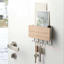 Nuevo estante de pared decorativo de madera para colgar en la pared caja de almacenamiento
