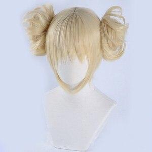 Image 2 - Peluca Boku no Hero Academia de My Hero Academia, Himiko Toga, Cosplay de estilo corto Rubio + gorro de peluca