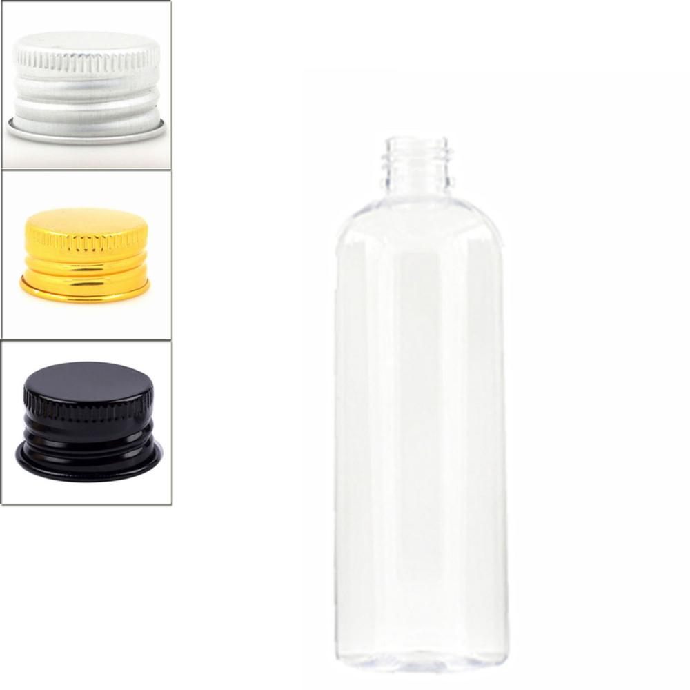 300ml Empty Plastic Bottles, Clear PET Bottle With Silver/gold Aluminum Lid