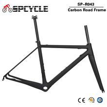 Cadre de vélo de route en carbone Ultra léger Spcycle DI2 et machines cadre de vélo de course BBright taille 48/51/54 / 56cm 2 ans de garantie