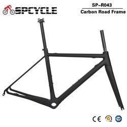 Spcycle Ultra Light Carbon Road rama rowerowa DI2 i wyścigi maszynowe zestaw ramek rowerowych BBright rozmiar 48/51/54 / 56cm 2 lata gwarancji