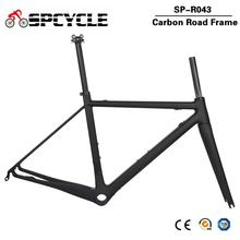 Spcycle Ultra hafif karbon yol bisiklet iskeleti DI2 ve makine yarış bisiklet Frameset BBright boyutu 48/51/54 / 56cm 2 yıl garanti