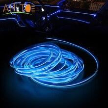 1X listwa drzwiowa samochodu Led atmosfera linia samochodowa lampa dekoracyjne do wnętrza lekka deska rozdzielcza czytanie lina elastyczna lampa 12V niebieska linia