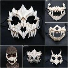 New Halloween Cosplay Resin Mask Dragon God Yasha Mask 2D Horror Animal Theme Party Animal Skull Face Mask Masquerade Scary Mask