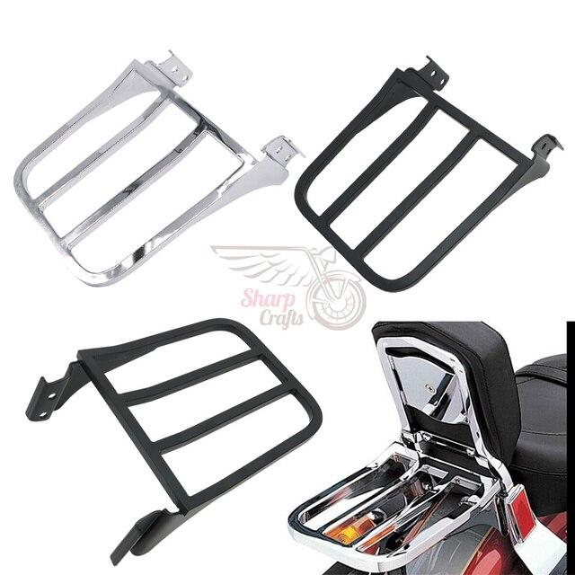 Motorrad Rückenlehne Sissy Bar Gepäckträger Für Harley Sportster XL 04 17 Dyna 06 17 Softail 84 05 FLST FLSTC FLSTSC 06 17