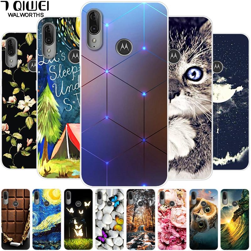 6.1'' For Moto E6 Plus case silicone soft tpu Phone Case For Motorola Moto E6 Plus Case E6Plus Para E 6 Plus Capa E6+ Cover