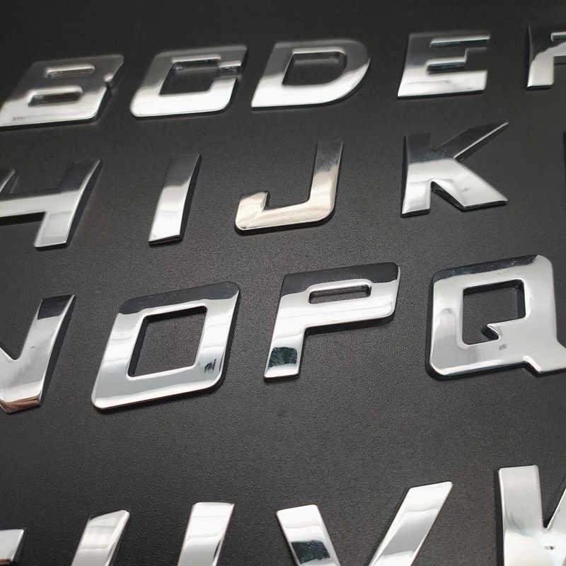 Autocollant de voiture lettre à décorer Alphabet numérique emblème moto Badge numéro automatique décalcomanie en métal pour BMW Audi Ford Volkswagen style de voiture