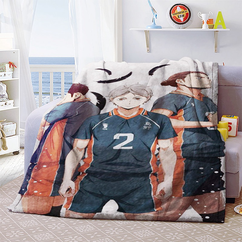 Anime Haikyuu!! Soft Warm Coral Fleece Plush Throw Blanket Bed Rug 70*100cm Bedroom Sheet Cosplay Winter Blanket At Any Cost