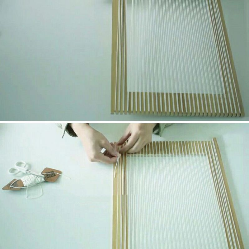 Kids Square Knitting Loom Board Kit Handheld Craft Weaving Tool For Children QX2D