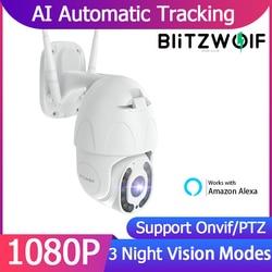 BlitzWolf SHC3 1080P IP Camera Wifi Outdoor PTZ Night Vision Security Camera Video CCTV Surveillance Smart Home works with Alexa