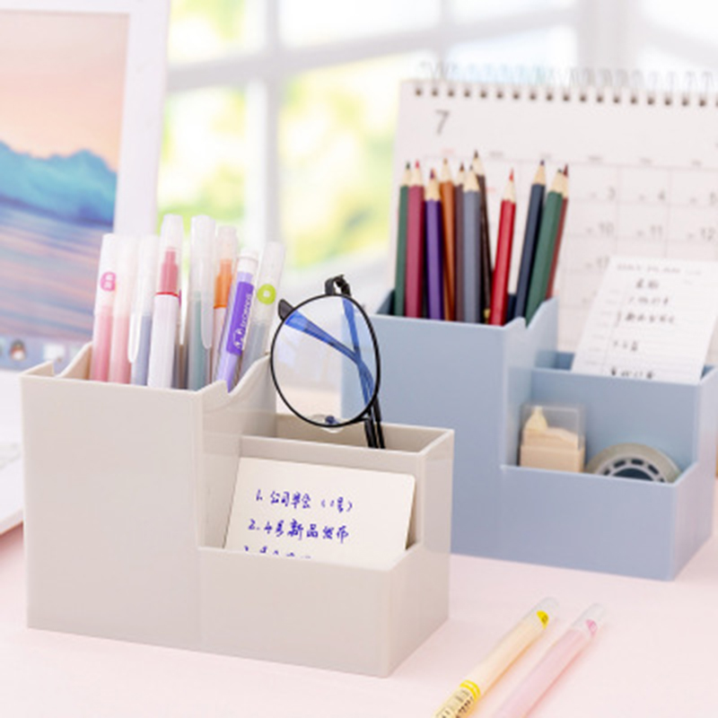 Table Desk Pens Pencils Sundries Storage Makeup Cosmetic Storage Box Brush Holders Office Organizer Home Office Storage 1PC