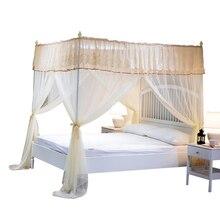 Mosquitera de verano princesa 1,8 m cama casa Vintage libros de tres puertas 2,0x2,2 colgando redes de encriptación suministros para el hogar