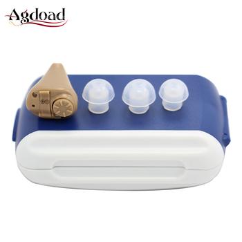 Mini ITE aparaty słuchowe baterii aby jak najmniej rzucało się w oczy ucha wzmacniacz dźwięku aparaty słuchowe głuchy dla osób w podeszłym wieku z etui do przechowywania tanie i dobre opinie agdoad 103127 Hearing aids battery mini Hearing aids