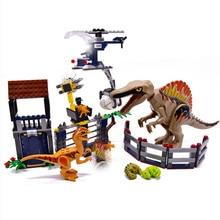 Heavy Claw Dragon Jurassic World Dinosaurs Figures Bricks Tyrannosaurus Assemble Building Blocks Legoinglys Dino Toy Dinosuar