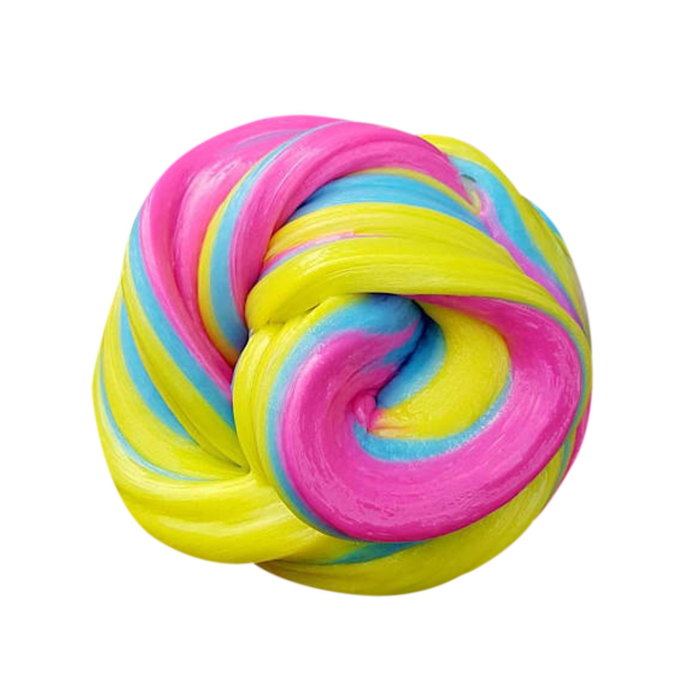 Stress Relief Toys Floam Slime Scented Sludge Toy Soft Plasticine Gum Polymer Clay Antistress Funny Gadgets #B
