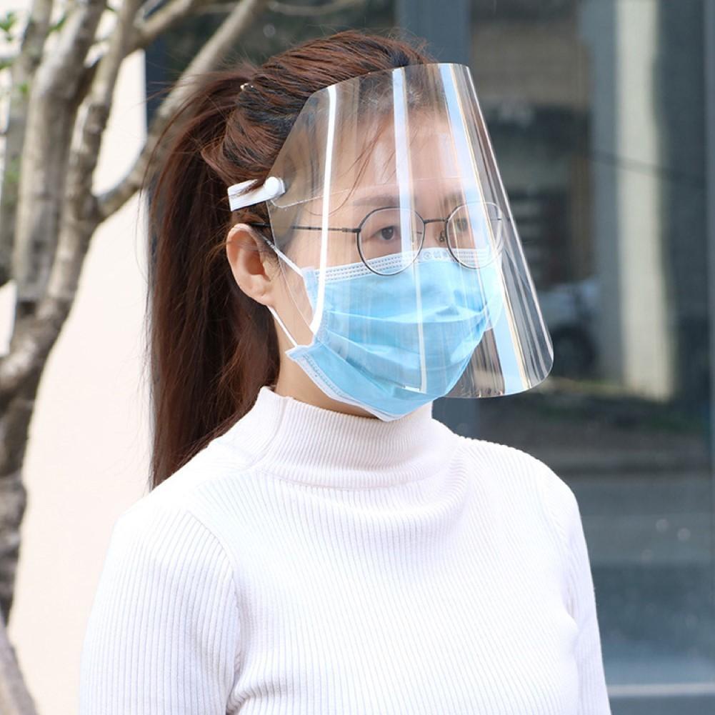 Dos Piezas Plegable Transparente Seguridad Escudo de Cara Completa de Protecci/ón Visera Protectora