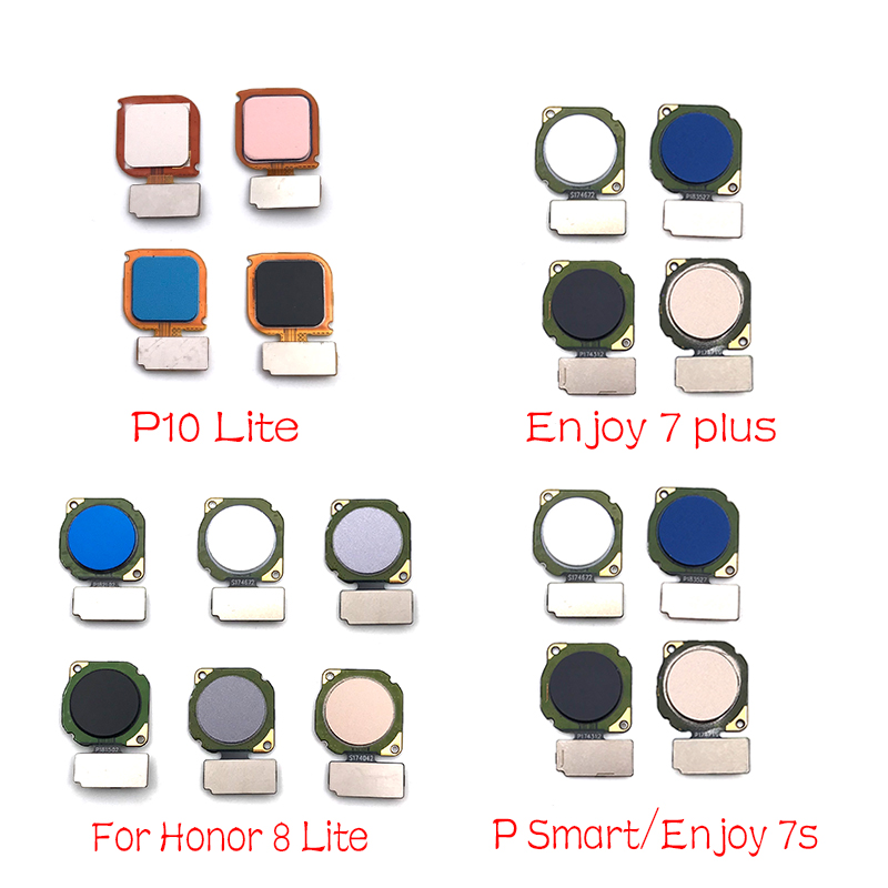 New For Huawei Honor 9 Lite 7X 7S P Smart P20 Lite Fingerprint Sensor Scanner Touch ID Home Button Flex Cable
