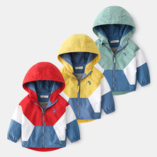 Children Jackets Clothing Outerwear Windbreaker Spring Patchwork Autumn Boys Hooded Casual
