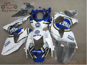 Custom Injection fairing kit for Suzuki GSXR 1000 2009 2010 2011 2012 2013 Lucky Strike motorcycle fairings kit GSXR1000 09-15