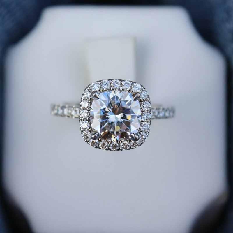 Yanhui luxo original 925 anel de prata sólida clássico 1 quilates zircônia diamante jóias para as mulheres noivado anéis de casamento r1129