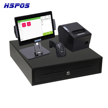 Newest 10 Inch POS Cash Register POS System with Printer,Scanner and Cash Drawer HS-ST01D