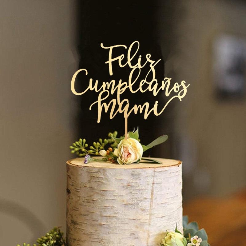 Feliz Cumpleanos Mami Cake Topper Happy Birthday Mom Cake Topper Mothers Day Spanish Cake Topper Unique Cake Topper For Mom Aliexpress