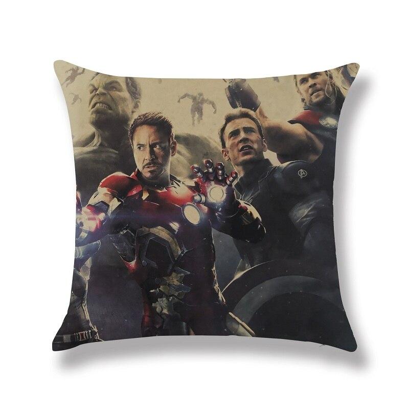 Avengers Superheroes Breaking Wall Cushion Cover Pillowcase Pillow Case Almofada
