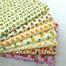 Buulqo frutas paraíso patrón de dibujos animados 100% tela de algodón sarga ropa de cama accesorios de ropa para niños