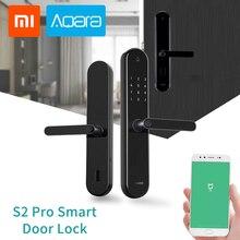 Original Aqara S2 Pro Smart Intelligent Door Lock Keyless Password Fingerprint Key Unlock Wifi APP Display Locks for Mi Home
