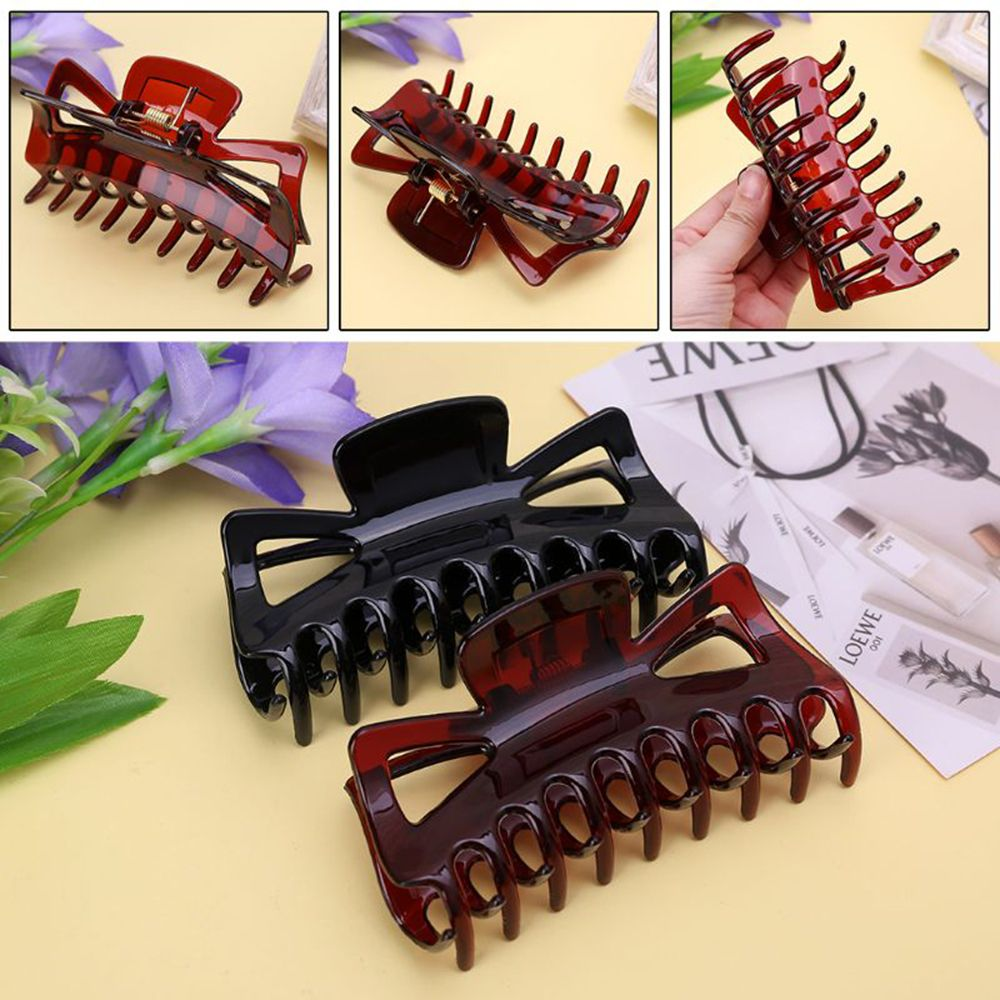 Hot New 11cm Large Hair Clamps Claw Clip Lady Female Casual Big Barrette Crab Hair Claws Bath Hair Claw Ponytail Clip Hair Crab