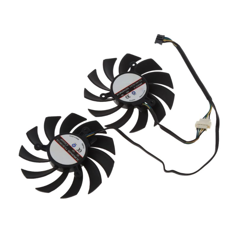 FD7010H12S 75MM 4pin Cooler Fan Graphics Video Card Fan For MSI Radeon Sapphire 6930 7850 <font><b>GTX</b></font> <font><b>550</b></font> 750 770 <font><b>Ti</b></font> 7870 Cooling C26 image