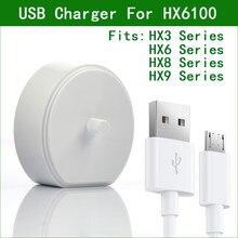 HX6100 5V Carregador USB Para Philips Sonicare Escova de Dentes HX6235 HX6240 HX6250 HX6263 HX6275 HX6620 HX6710 HX6722 HX6730 HX6731
