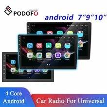 "Podofo 10.1 ""/9""/7 ""araba radyo multimedya oynatıcı 2din Android ses Stereo Bluetooth Autoradio toyota Volkswagen Hyundai Kia"