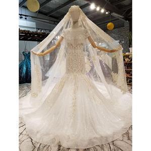 Image 4 - فساتين زفاف AIJINGYU في الثياب للنساء الأميرة البيضاء عالية الخصر رائع فستان عروس رومانسي أبيض