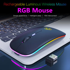 Bluetooth Mouse Ergonomic Optical-Mice Laptop Silent-Mause Rechargeable RGB LED for PC