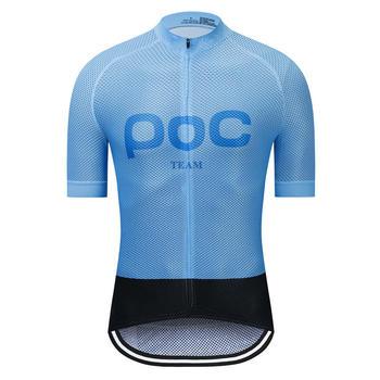 TEAM POC dżersej męski rowerowy z krótkim rękawem koszulka na rower MTB szosowe Jersey włochy tkanina Ciclismo oddychająca szybkoschnąca lato tanie i dobre opinie IT (pochodzenie) POLIESTER Stretch Spandex SHORT men cycling jersey set Wiosna summer AUTUMN Koszulki Zamek na całej długości