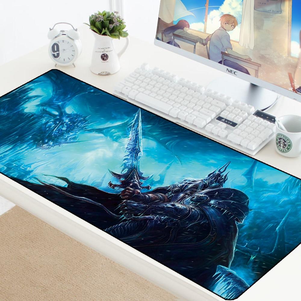 WOW Mouse Pad DIY Custom Mouse Mat World Of Warcraft Gaming Mousepad Mat Natural Rubber Office Notbook Mat Large Desk Protector