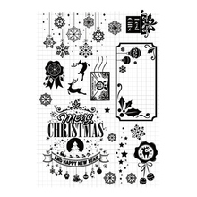 Merry Christmas Clear Stamps Deer Transparent Silicone Seal for DIY Scrapbooking Card Making Photo Album Crafts Decor Stamps merry christmas trees sticker painting stencils for diy scrapbooking stamps home decor paper card template decoration album