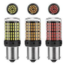 2 adet 1156 1157 BA15S P21W süper parlak 1600lm LED araba kuyruk fren ampul otomatik yedekleme ters lamba dönüş sinyali gündüz çalışan işık