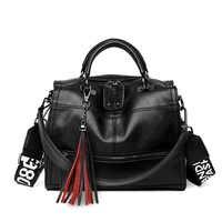 Frauen handtasche aus echtem leder 2020 luxus mode schulter tasche für frauen schwarz große kapazität einkaufstasche
