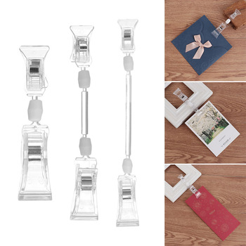 1Pcs S M L Advertising Clips Plastic Durable Clear Sign Display Holders Price Label Tag Clip In Supermarket Retails Shelf Clamp
