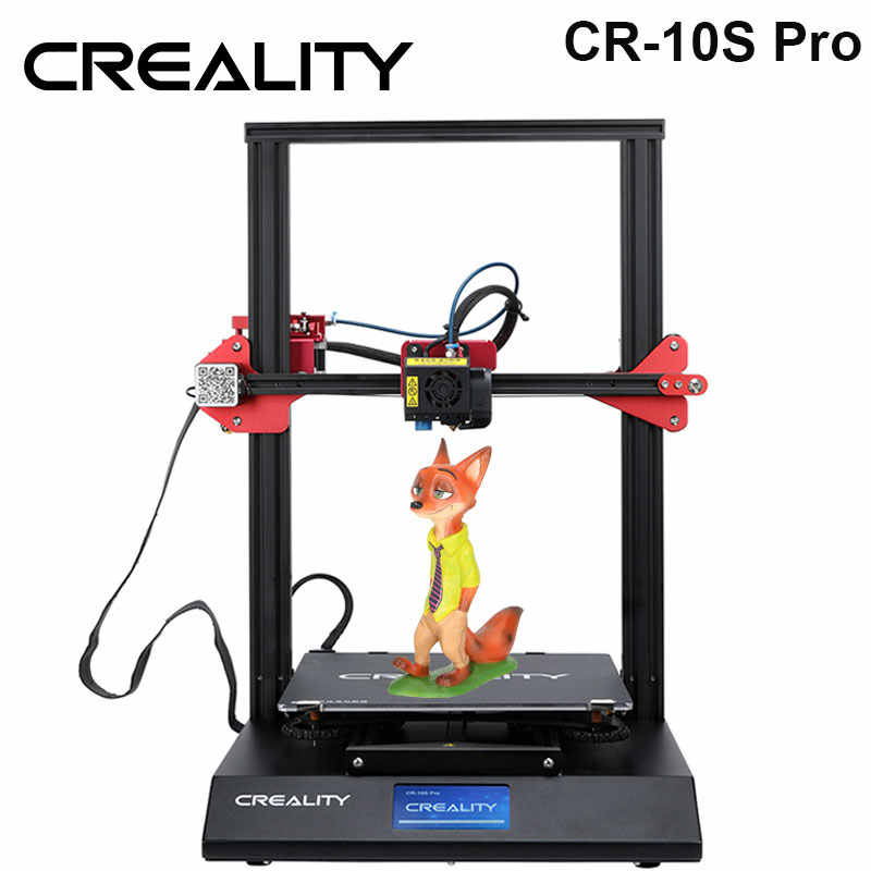 Creality 3D CR-10S Pro Meratakan Auto Sensor Printer 4.3 Inci LCD Resume Printing Filament Deteksi Funtion Meanwell Power