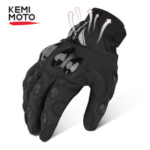 KEMiMOTO Motorcycle Gloves Men Cycling Mountain Bike Guantes Motocross Luvas Touch Screen Moto Gloves Men Spring Summer Winter